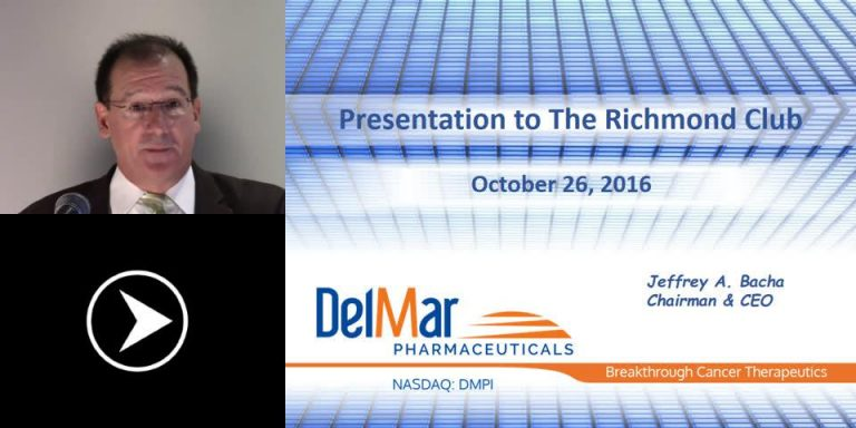 DelMar Pharmaceuticals Develops and Commercializes Proven Cancer Therapies