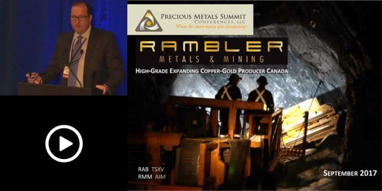 Rambler Mines Investor Presentation, Precious Metals Summit
