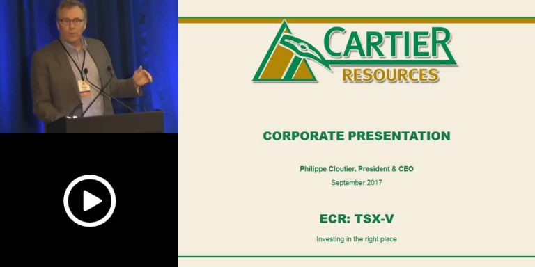 Cartier Resources presents at the Precious Metals Summit, Boulder, Colorado – September 2017