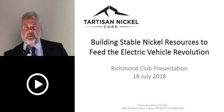 Tartisan Nickel Presents to Richmond Club