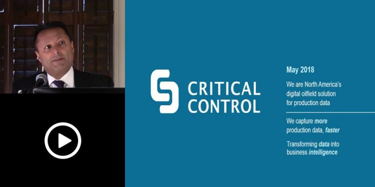 Critical Control Energy Services-Cloud-Based Software for Oil & Gas