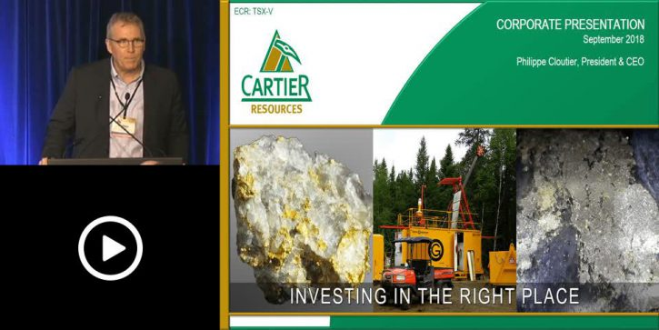 Cartier Resources Investor Presentation – Precious Metals Summit, Boulder, Colorado – September 2018