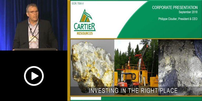 Cartier Resources presents at the Precious Metals Summit in Boulder, Colorado – September 2018