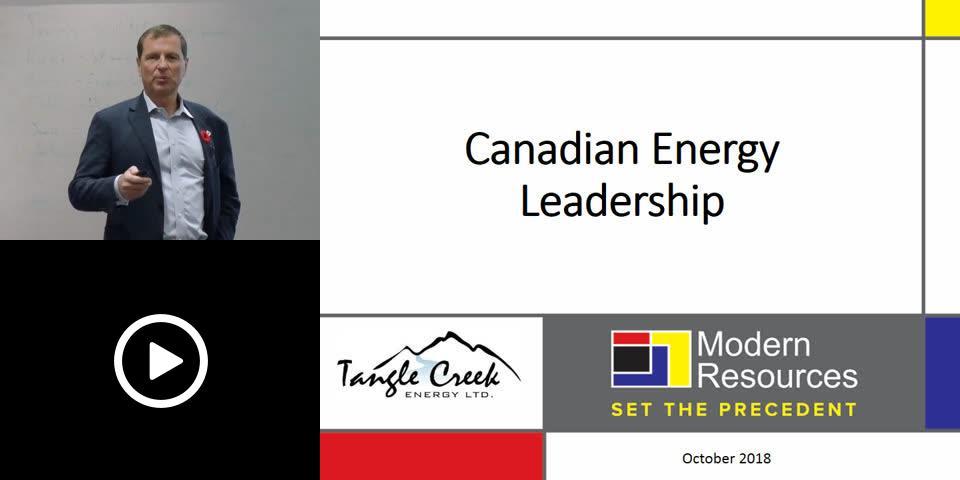 Canadian Energy Leadership - Chris Slubicki, Modern Resources
