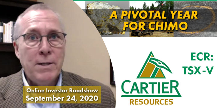 Cartier Resources Online Investor Roadshow – Sept. 24, 2020